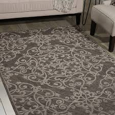 Modern Damask Rug Damask Rugs Das01 In Grey By Nourison Damasks Rugs And Grey