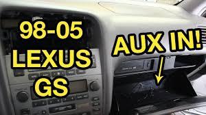 lexus gs400 tires 98 05 lexus gs auxiliary input installation grom youtube