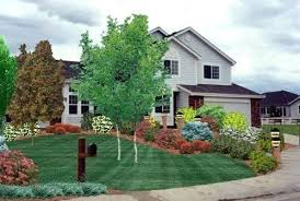 colorado landscape design ideas commercial sign area planting bed