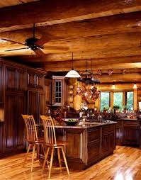 Log Home Interior Design Log Home Kitchen Design Yellowstone Log Homes