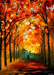 farewell to autumn u2014 palette knife oil painting on canvas by