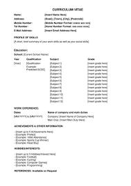 simple curriculum vitae format simple cv curriculum vitae template for secondary students