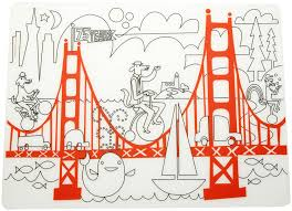 coloring placemats modern twist kids mat silicone coloring placemat