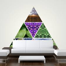 rainbow cave items tagged example large modular wall mural with triangle wall stickers interactive art