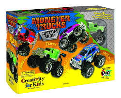 monster jam toy trucks for sale amazon com creativity for kids monster trucks kit custom shop