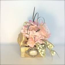 gold and white shabby chic wedding gift box favors jewelry gift