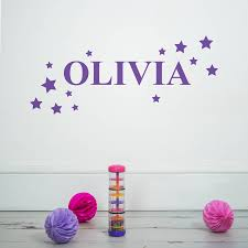 personalised stars wall sticker by nutmeg notonthehighstreet com personalised stars wall sticker