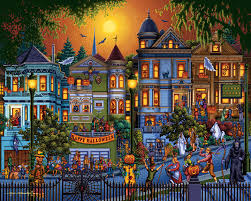 halloween jigsaw puzzles for adults trick or treat jigsaw puzzle puzzlewarehouse com