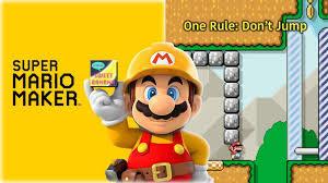super mario maker one rule don u0027t jump youtube