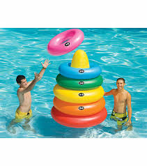 Inflatable Pool Target Swimline Giant Ring Toss Game At Swimoutlet Com Free Shipping