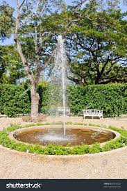 small fountain european style garden thai stock photo 90333202