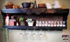 diy wood spice rack with a pallet wine glass holder hometalk
