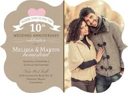 10th wedding anniversary pink heart 10th wedding anniversary invitation 10th anniversary