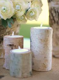 Birch Wood Table Decorations Modern Decoration Attractive