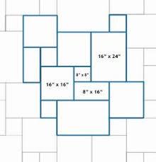 travertine versailles pattern pattern layout and