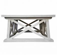 White Wash Coffee Table - coffee table luc coastal beach white wash coffee table kathy kuo