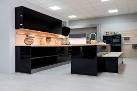 modele exposition cuisine destockage modèle exposition cuisine focus 472 noir brillant à