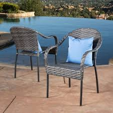 sunset outdoor tight weave wicker chair set of 2 by christopher