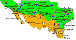 map usa mexico border us mexico border directory from mexonline cities traffic links