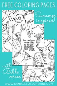 summer inspired free coloring pages with bible verses sparkles