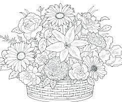 printable coloring pages of pretty flowers printable coloring pages flowers coloring pages flowers for adults