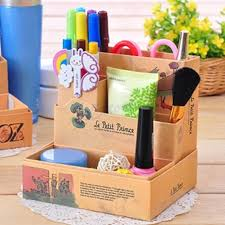 Desk Organizer Box Paper Board Storage Box Desk Decor Stationery Makeup Cosmetic