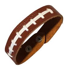 leather bracelet wristband images Ballpark leather leather football bracelet wristband jewelry jpeg