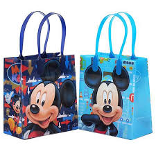 mickey mouse gift bags mickey mouse goodie bags 12 premium quality party favor reusable