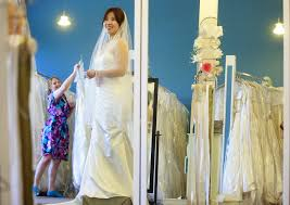 growing number of brides say yes to a consignment wedding dress