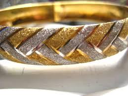 white gold yellow gold bracelet images Love this 14k yellow and white gold bangle bracelet criss cross jpg