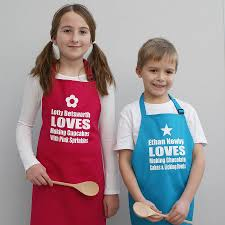 personalised we baking childrens apron by sparks clothing
