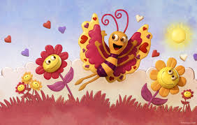 cartoon pictures of flowers and butterflies stock photo wedding
