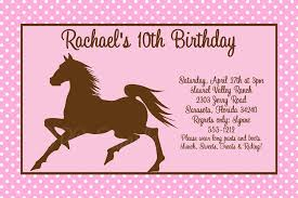 birthday invites remarkable horse birthday party invitations