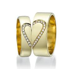 Heart Wedding Rings by 18k Promise Ring Men And Women Heart Wedding Bands 0 14 Crt