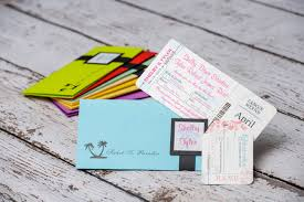 Boarding Pass Wedding Invitation Card Teal Boarding Pass Wedding Invites To Royalton White Sands Jamaica