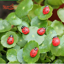 30 pcs mini ladybug beatles garden ornaments scenery craft plant