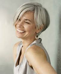 grey hair in 40 s short hair style for older women short layered hairstyle a short