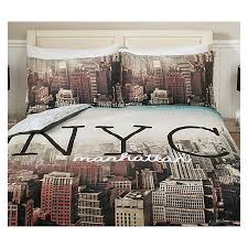 New York Bed Set Plum Bedding And Curtains Set Tokida For