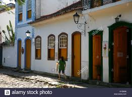 typical colonial houses in the historic part of parati rio de