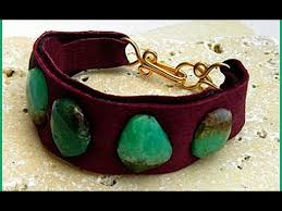 cuff bracelet with stones images Jewelry how to leather cuff bracelet with gemstones jpg