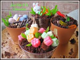 Halloween Dirt Cake Recipe Gummy Worms by Just Dip It In Chocolate Spring Clay Pots With A Surprise Dirt Cake