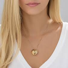 gold plated monogram necklace contoured gold plated monogram necklace heart shape mynamenecklace