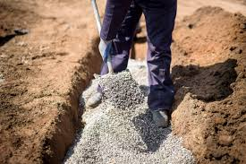 how to dig a sewer trench