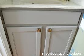Painting A Bathroom Vanity Before And After by Half Bath Vanity Makeover Annie Sloan Chalk Paint