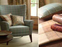 Check Armchair Laura Ashley Corby Check Tartan Fabric In Duck Egg Blue Use On
