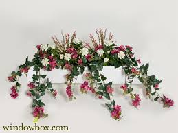 artificial flower arrangements artificial mixed flower vine window boxes fuchsia lavender