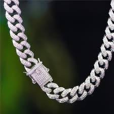 white gold necklace set images White gold 12mm iced out cuban choker chain and tennis chain set jpg