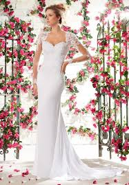 mori lee voyage 6795 wedding dress with straight line silhouette