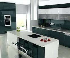 idee cuisine equipee cuisine idee idace cuisine carrelage blanc mobilier gris cuisine