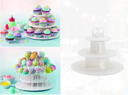 cake pop stands high quality 3 tiers snack server 21pcs cupcake stand 42pcs cake